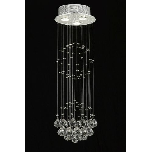 Rain Drop 3 Light Crystal Chandelier