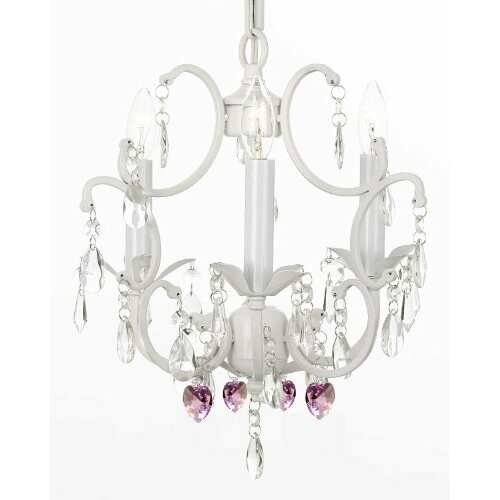 Versailles 3 Light Crystal Chandelier