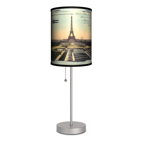 magic poodles in paris eiffel tower 18 h table lamp with bell shade. Black Bedroom Furniture Sets. Home Design Ideas