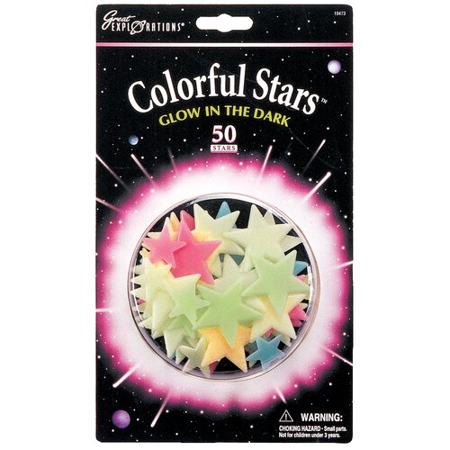 University Games Great Explorations Glow in Dark Colorful Stars