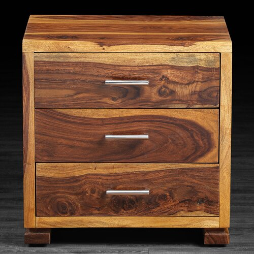 Sandy 3 Drawer Nightstand