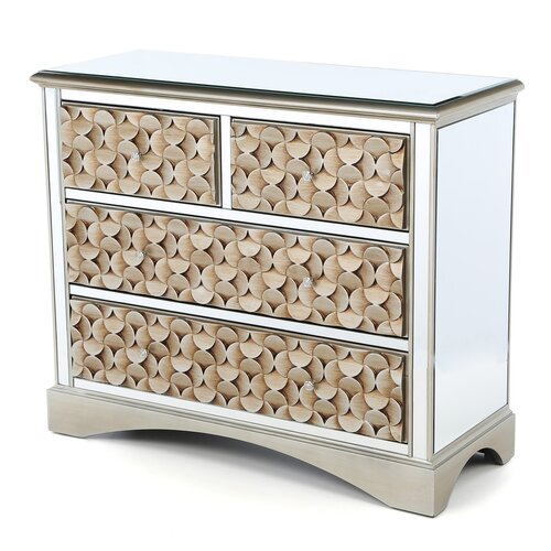 Stein World Savona Mirrored 4 Drawer Chest