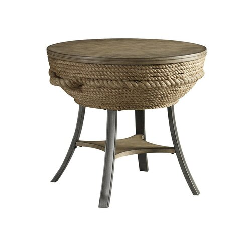 Crescent Key Round End Table