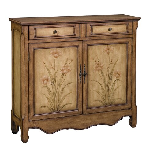 Stein World Ava Aged Floral 2 Drawer Cupboard