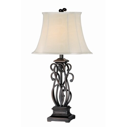 "Stein World Elegant Scroll 32.5"" H Table Lamp with Bell Shade"