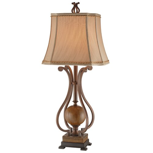 """Stein World Scroll 34.25"""" H Table Lamp with Bell Shade"""