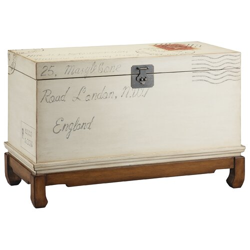 Stein World Market Village  Postage Stamp Storage Trunk