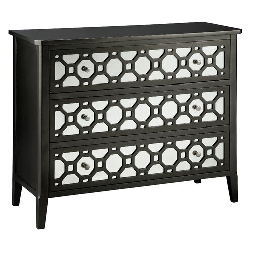 Stein World Cosmopolitan Mirror Front Accent 3 Drawer Chest