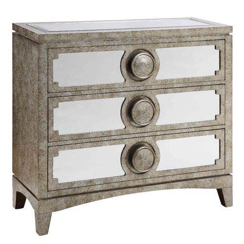 Carlton Mirrored 3 Drawer Cabinet
