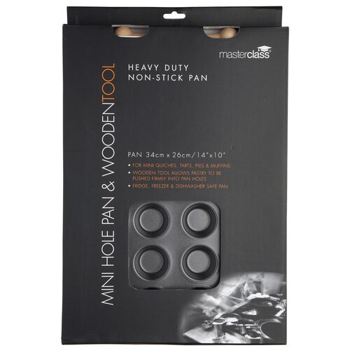 KitchenCraft Master Class Non-Stick 24 Hole Mini Tin