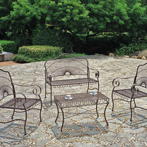 International Caravan Sun Ray 4-Piece Patio Set
