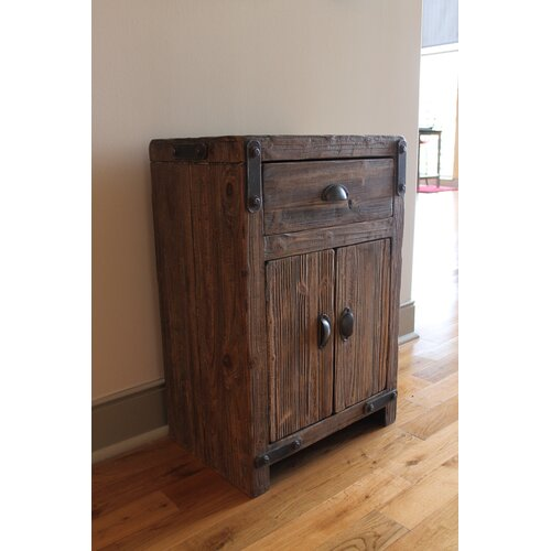 International Caravan Rustic Forge 1 Drawer Cabinet