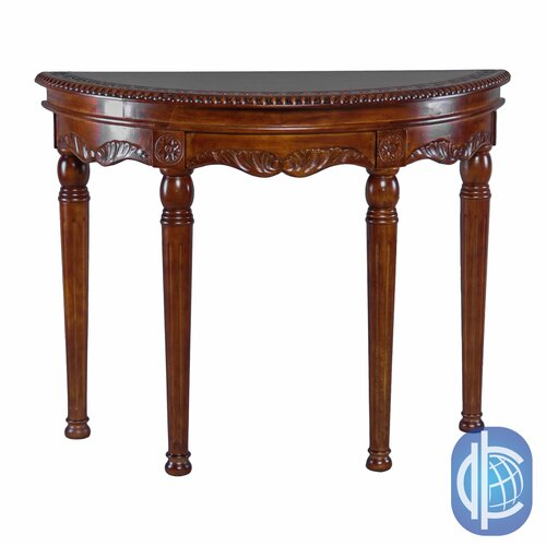 Windsor Hand Carved Half-Moon Console Table