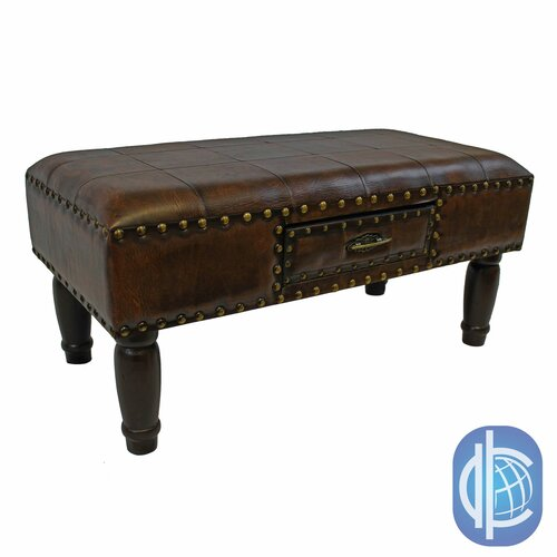 30 Eye Catching Entryway Benches For Your Home: International Caravan Windsor Faux Leather Entryway Bench