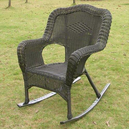 international caravan chelsea wicker resin outdoor rocking chair reviews wayfair