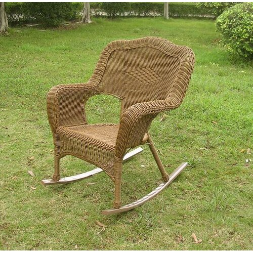 International Caravan Chelsea Outdoor Wicker Resin Patio Rocking Chair