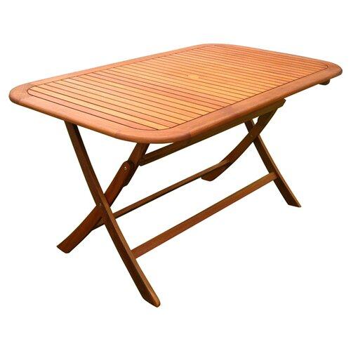 royal tahiti balau outdoor folding dining table reviews wayfair