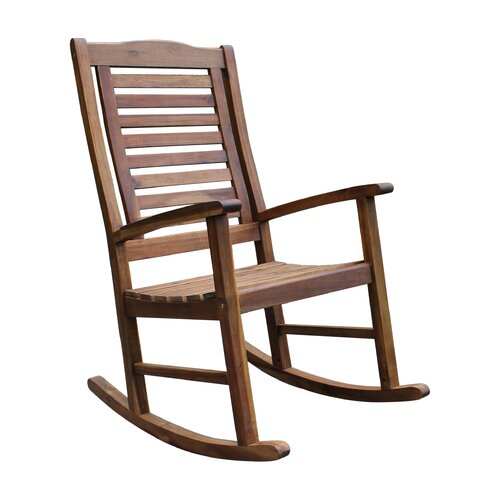 International Caravan Acacia Palmdale Contemporary Outdoor Rocking Chair &amp