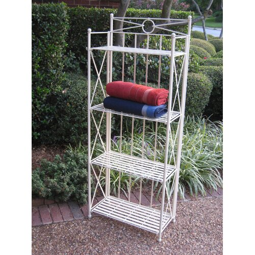 International Caravan Artica 4-Tier Iron IndoorOutdoor Bakers Rack