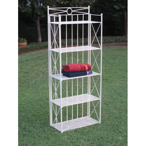 4-Tier Wrought Iron Indoor/Outdoor Bakers Rack