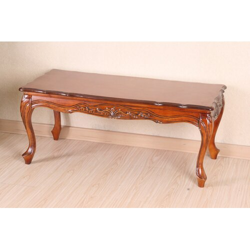 International Caravan Windsor Hand Carved Wood Coffee Table