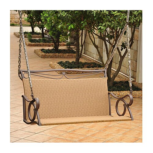 Valencia Wicker Resing Porch Swing
