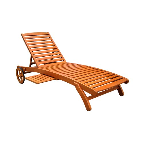 International Caravan Royal Tahiti 5-Postion Balau Wood Patio Chaise Lounge