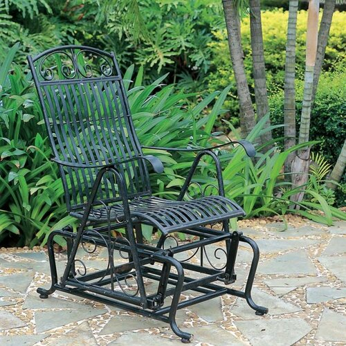 International Caravan Tropico Iron Single Patio Glider Chair
