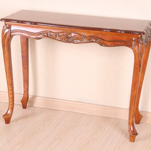 Hand Carved Console Table ~ International caravan windsor hand carved console table