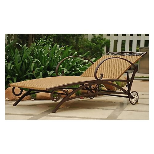 Valencia Wicker Resin Multi-Position Outdoor Chaise Lounge
