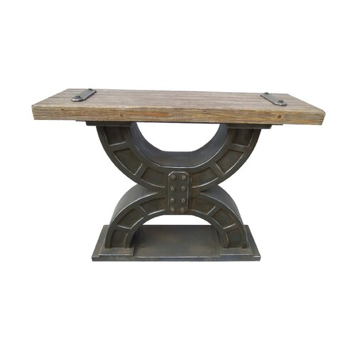 International Caravan Rustic Forge Console Table