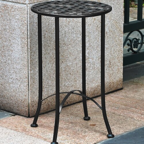 International Caravan Mandalay 16-inch Iron Patio Side Table