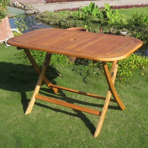 Royal Tahiti Balau Folding Patio Dining Table