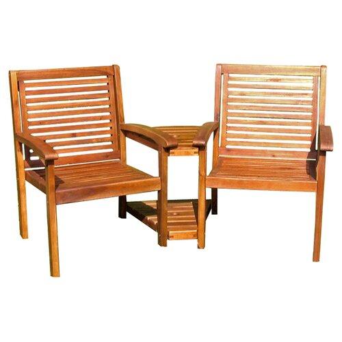 International Caravan Highland Acacia Double Corner Patio Chair