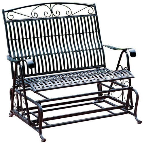 International Caravan Tropico Iron Single Patio Glider Chair Reviews Wayfair