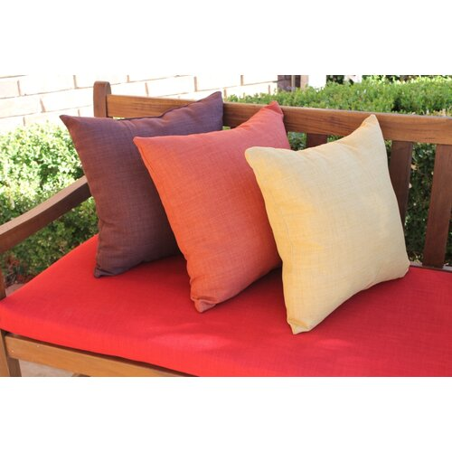 Blazing Needles Outdoor Solid Throw Pillow