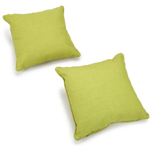 Solid Outdoor Throw Pillow (Set of 2)