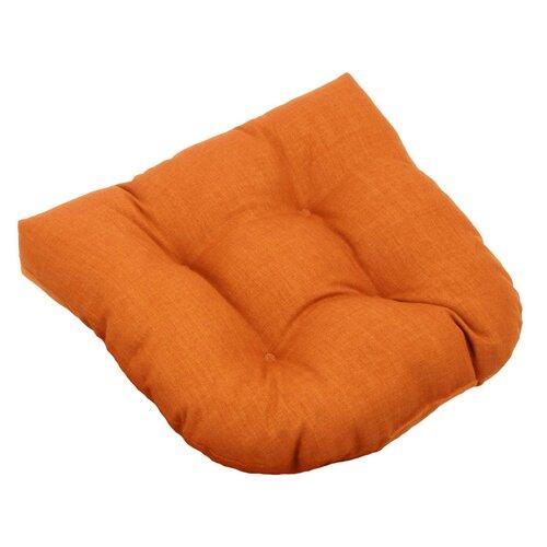 Blazing Needles All-Weather UV-Resistant Patio U-Shaped Cushion