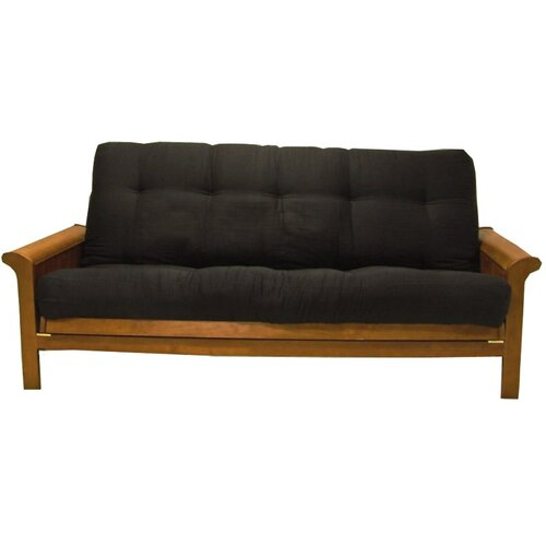 Solid Twill Black Futon Cover