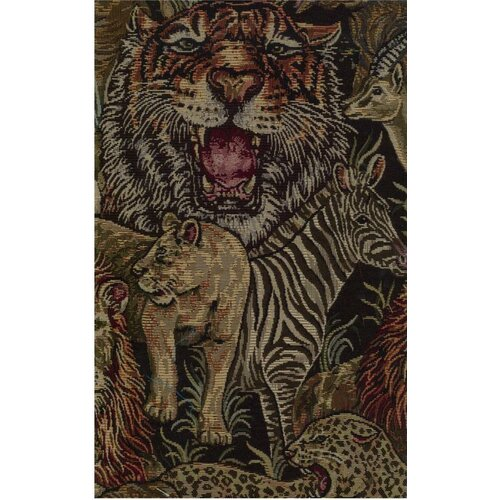 Blazing Needles Tapestry Safari Futon Cover Set