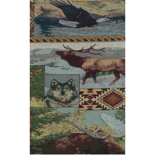 Blazing Needles Tapestry The Wild North Futon Slipcover Set