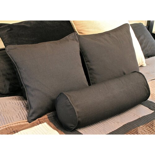 Blazing Needles Futon Solid Pillows with Bolster Package