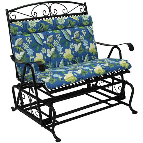 Blazing Needles Outdoor Loveseat Glider Cushion