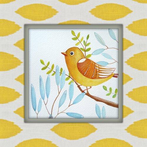 Little Yellow Bird Graphic Art on Canvas