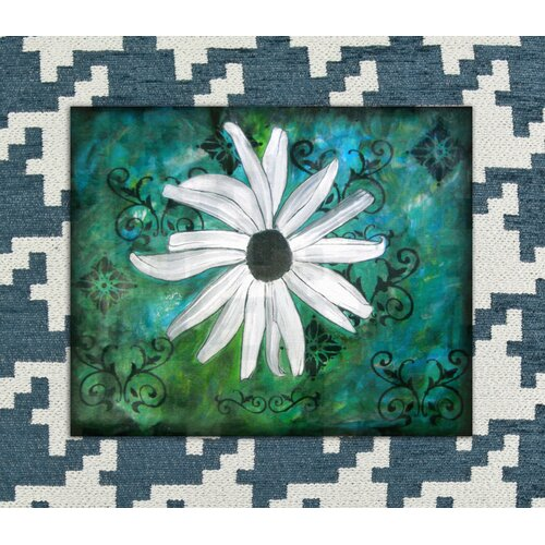 Abstract Flower Graphic Art on Canvas