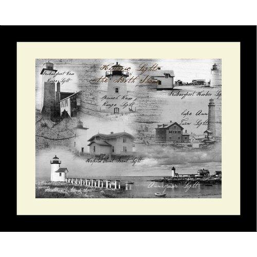 Lighthouse Historic Lights North Shore Photographic Print Framed Art