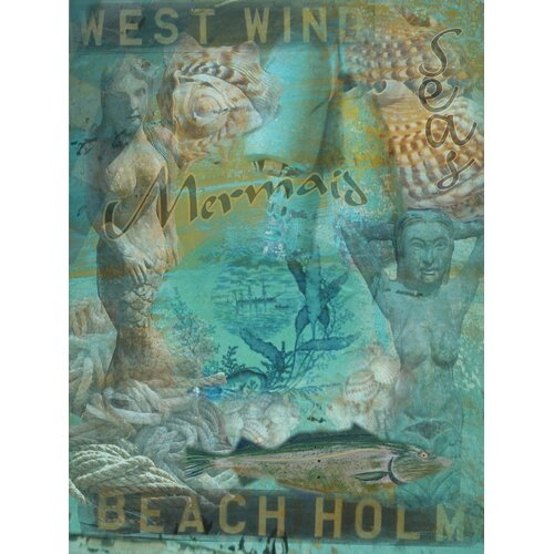 Mermaid Seas Graphic Art on Canvas