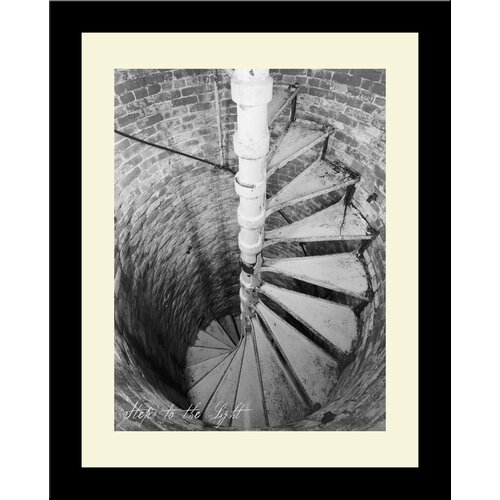 Lighthouse Steps to The Light Framed Photographic Print