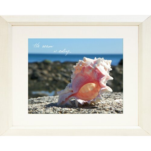Coastal The Ocean is Calling Framed Photographic Print