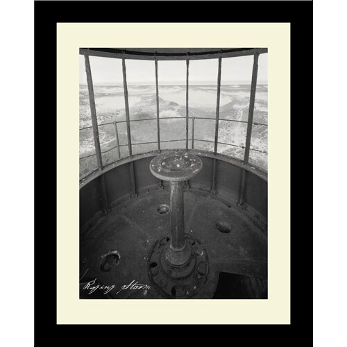 Lighthouse Raging Storm Framed Photographic Print